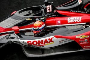 Rinus VeeKay, Ed Carpenter Racing Chevrolet celebrates winning the GMR Grand Prix