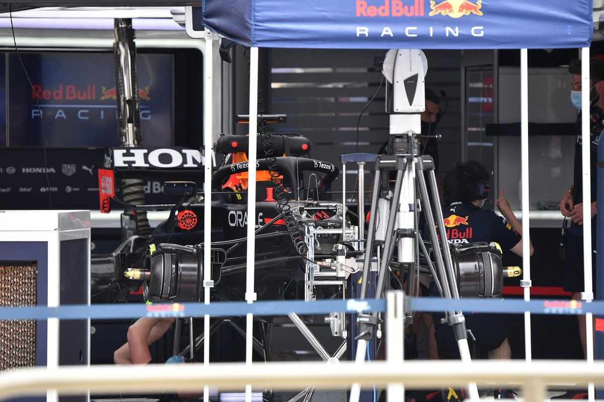 Detalle frontal del Red Bull Racing RB16B