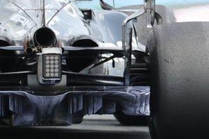Mercedes W12, dettaglio del diffusore