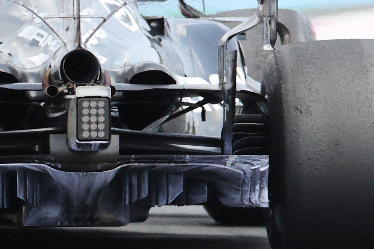 Detalle del difusor del Mercedes W12