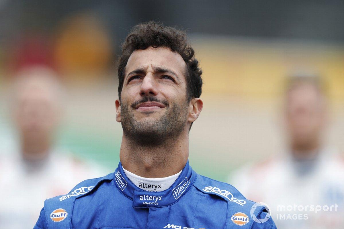 Daniel Ricciardo, McLaren, antes de la presentación del coche de Fórmula 1 de 2022