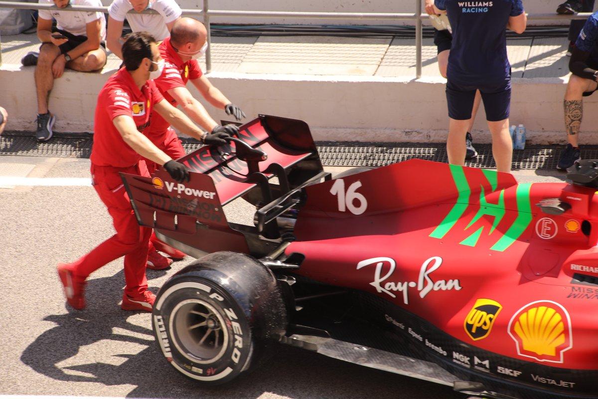 Detalle trasero del Ferrari SF21