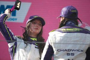 Irina Sidorkova, 2nd position, and Jamie Chadwick, 1st position