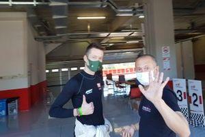 Francesco Maria Fenici, AB Racing e Massimiliano Ghinassi, direttore di gara