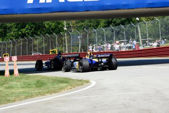 Scott Dixon, Chip Ganassi Racing Honda e Alexander Rossi, Andretti Autosport Honda
