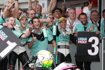 Le vainqueur Marcos Ramirez, Leopard Racing, le troisième, Lorenzo Dalla Porta, Leopard Racing