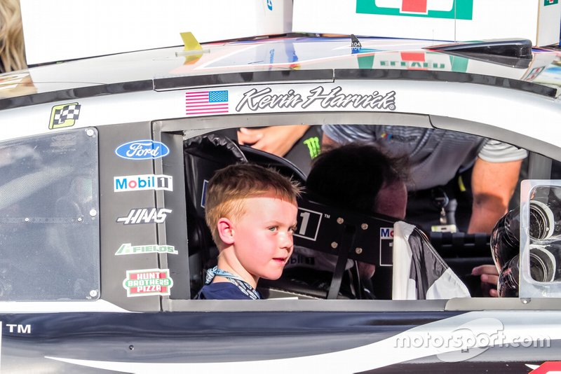 Race Winner Kevin Harvick's son Keelan Harvick