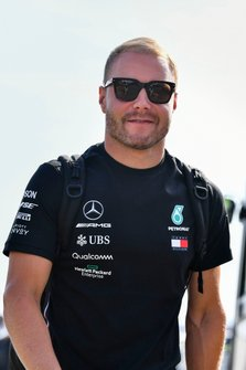 Valtteri Bottas, Mercedes AMG F1 arrives