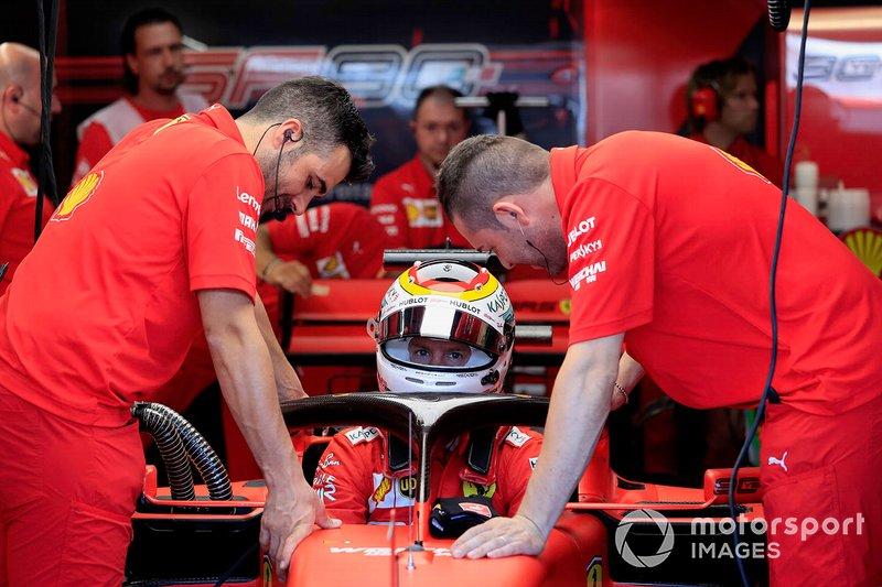 20: Sebastian Vettel, Ferrari, no time