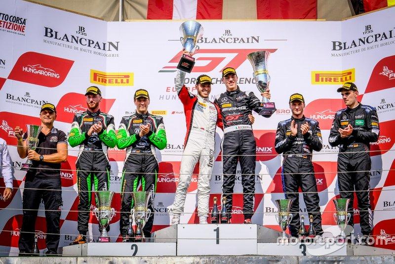Podio: Il vincitore #88 Akka ASP Team Mercedes-AMG GT3: Vincent Abril, Raffaele Marciello, secondo classificato #63 GRT Grasser Racing Team Lamborghini Huracan GT3 Evo: Christian Engelhart, Mirko Bortolotti, terzo classificato #4 BLACK FALCON Mercedes-AMG GT3: Luca Stolz, Maro Engel