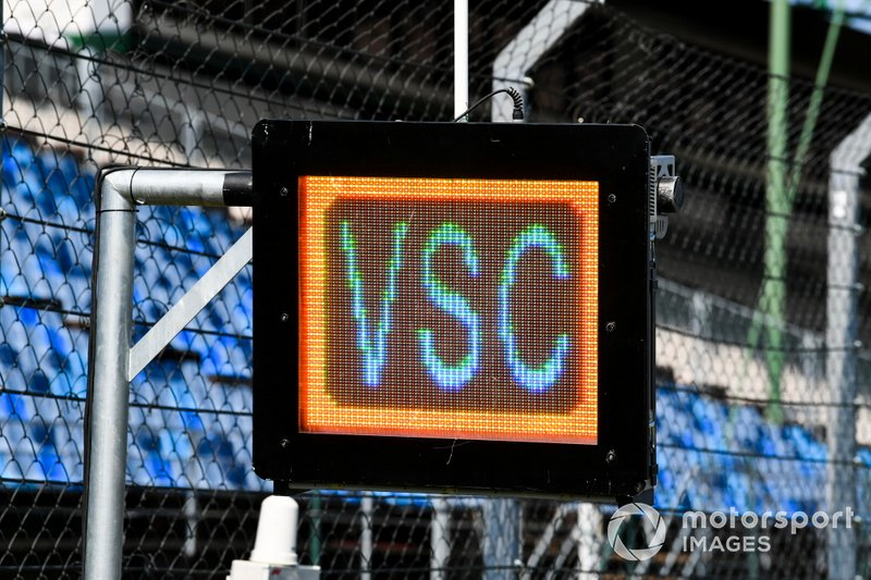 Luces del Virtual Safety Car en el Hungaroring