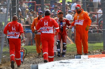 Andrea Dovizioso, Ducati Team after his crashes