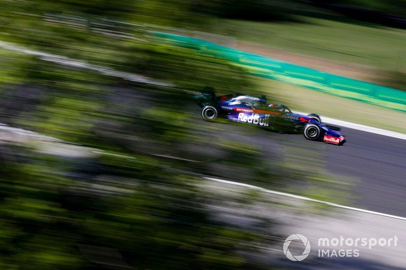 2019 год. За рулем болида Toro Rosso STR14 по ходу гонки