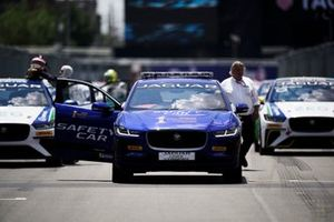 The iPace Safety Car on the grid