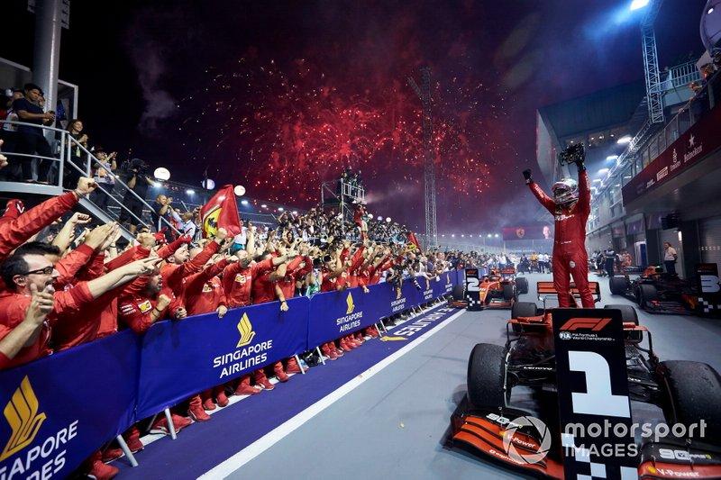 Singapur 2019: su primer triunfo en más de un año, supera a Ascari en victorias como Ferrarista.