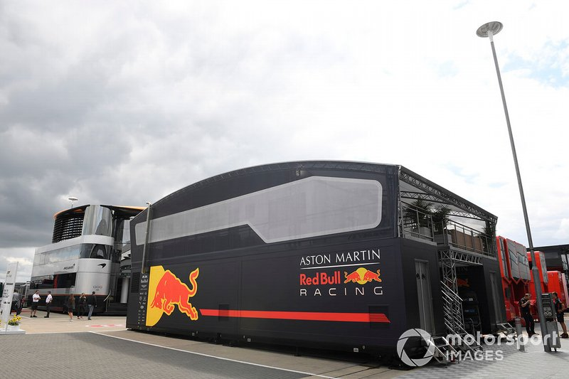 Red Bull Racing garage in the paddock
