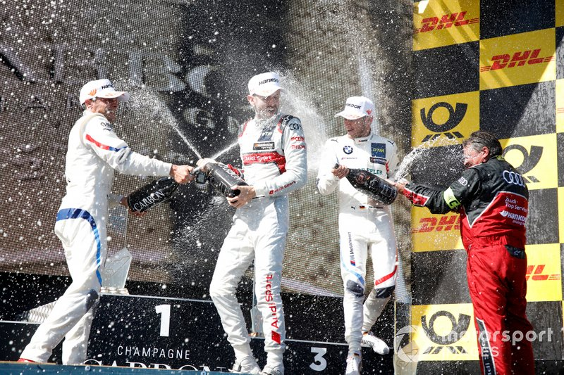 Podio: ganador de la carrera René Rast, Audi Sport Team Rosberg, segundo Bruno Spengler, BMW Team RMG, tercero Marco Wittmann, BMW Team RMG