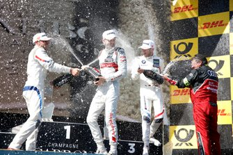 Podium: Race winner René Rast, Audi Sport Team Rosberg, second place Bruno Spengler, BMW Team RMG, third place Marco Wittmann, BMW Team RMG