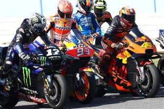 Maverick Vinales, Yamaha Factory Racing, Marc Marquez, Repsol Honda Team, Pol Espargaro, Red Bull KTM Factory Racing