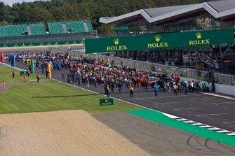 WEC, Atmosfera sulla griglia alla gara di Silverstone