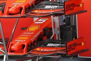 Morros y alerones delanteros del Ferrari SF90
