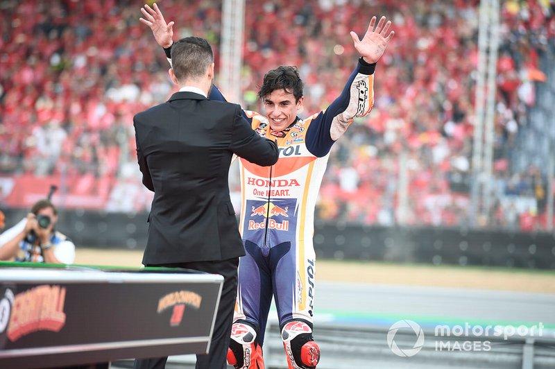 Campeón del mundial Marc Márquez, Repsol Honda Team celebra