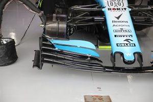 Detalle del alerón delantero Williams Racing FW42