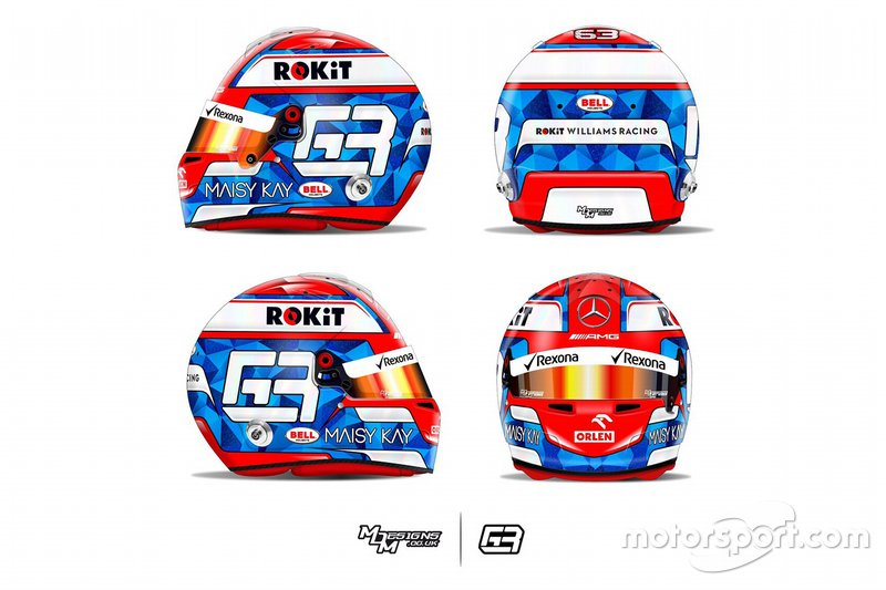 Casco de George Russell, Williams Racing
