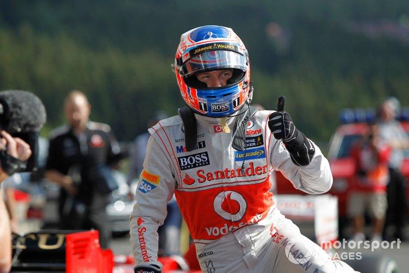 Ganador de la pole Jenson Button, McLaren