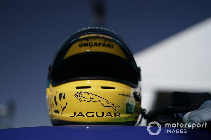 Mário Haberfeld's, ZEG iCarros Jaguar Brazil helmet