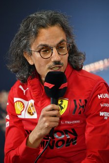 Laurent Mekies, Director Deportivo de Ferrari en la conferencia de prensa