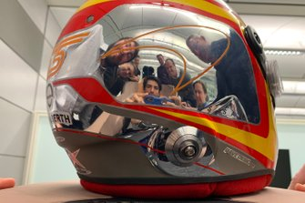 Helmet of Carlos Sainz Jr. McLaren