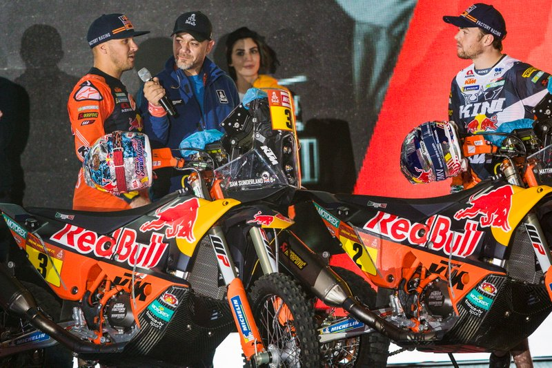 #3 Red Bull KTM Factory Racing: Sam Sunderland, #2 Red Bull KTM Factory Racing: Matthias Walkner