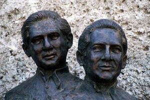Statues of Pedro Rodriguez and Ricardo Rodriguez