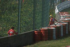 Alain Prost, Ferrari and Ayrton Senna, McLaren