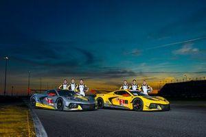 #4 Corvette Racing Corvette C7.R: Oliver Gavin, Tommy Milner, Marcel Fässler, #3 Corvette Racing Corvette C7.R: Antonio Garcia, Jordan Taylor, Nicky Catsburg