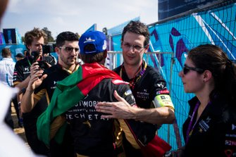 Antonio Felix da Costa, DS Techeetah, 2nd position, with his team after the podium ceremony