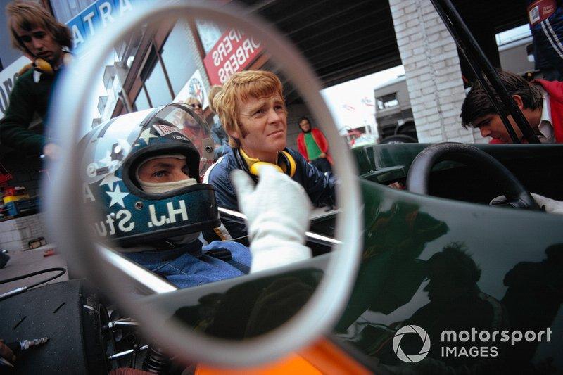 Zandvoort 1974: Hans-Joachim Stuck en March-baas Max Mosley