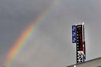 Rainbow and scoring pylon