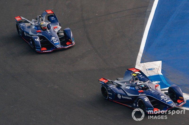 Sam Bird, Virgin Racing, Audi e-tron FE06 Robin Frijns, Virgin Racing, Audi e-tron FE06