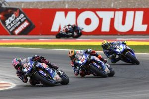 Alex Lowes, Pata Yamaha, Michael van der Mark, Pata Yamaha, Sandro Cortese, GRT Yamaha WorldSBK