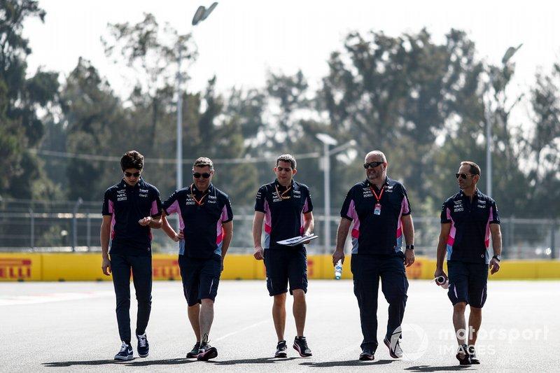 Lance Stroll, Racing Point cammina sulla pista