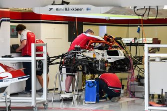 Front suspension of Alfa Romeo Racing C38