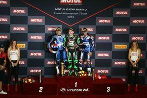 Jules Cluzel, GMT94 Yamaha, Lucas Mahias, Kawasaki Puccetti Racing, Isaac Vinales