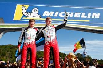 I Campioni del Mondo Ott Tänak, Martin Järveoja, Toyota Gazoo Racing WRT Toyota Yaris WRC
