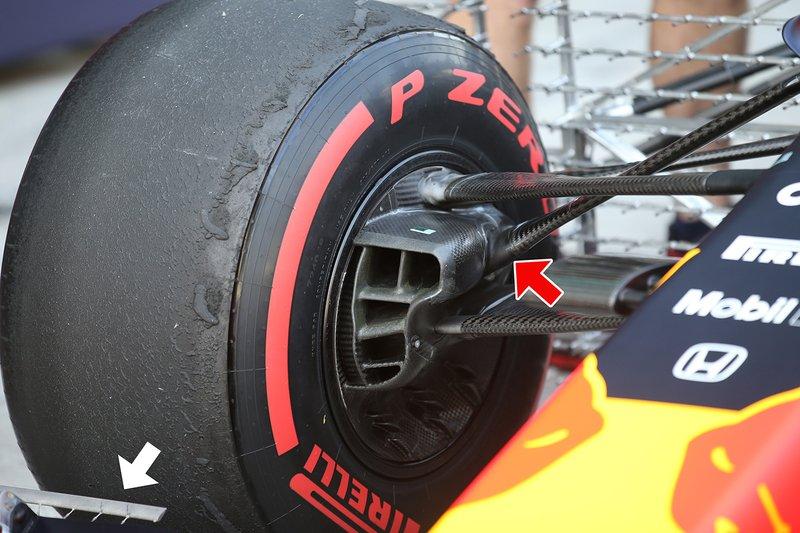 Red Bull Racing RB15, dettaglio della sospensione anteriore