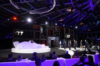 Models on stage ahead of the launch