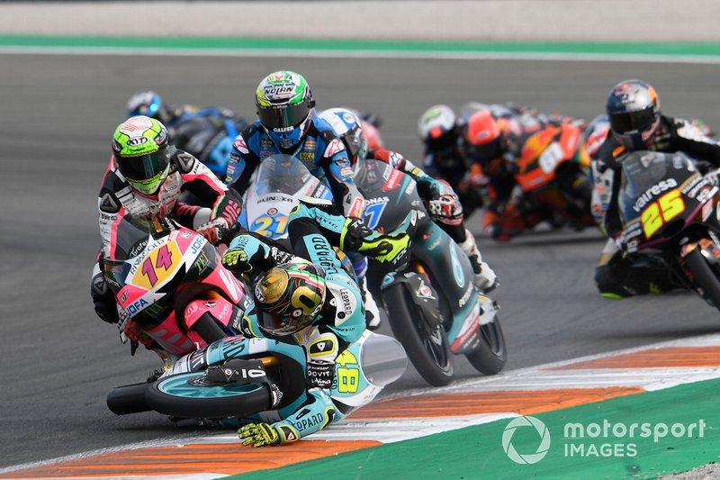 Accidente Lorenzo Dalla Porta, Leopard Racing, Tony Arbolino, Team O, John McPhee, SIC Racing Team, Alonso Lopez, Estrella Galicia 0,0