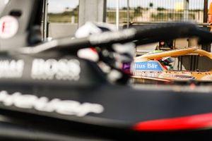 Jean-Eric Vergne, DS TECHEETAH, DS E-Tense FE20, side by side with Andre Lotterer, Porsche, Porsche 99x Electric