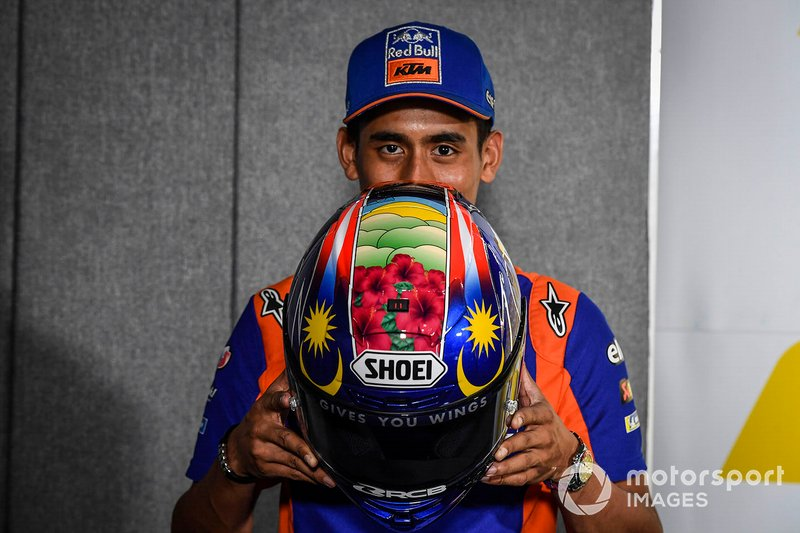 Capacete do malaio Hafizh Syahrin, Red Bull KTM Tech 3